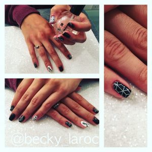 CND Acrylic Nails finished in ACG