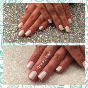 Natural Nails finished with ACG (Bride)