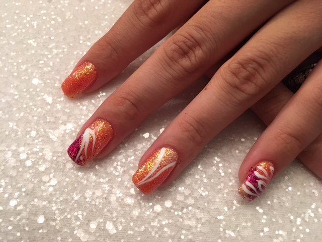 Beauty By Becs, Acrylic Ext with nail art