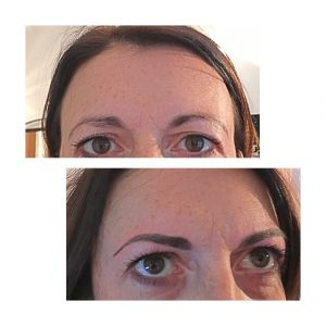 Microbladed brows Before & After (2)