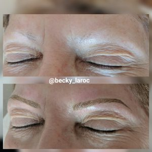 Micropigmentation brow transformation