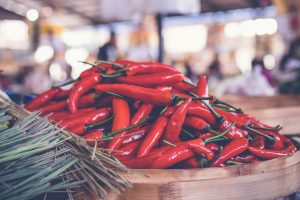 Eating certain foods, like chillis, can cause flare ups of common skincare problems like Rosacea